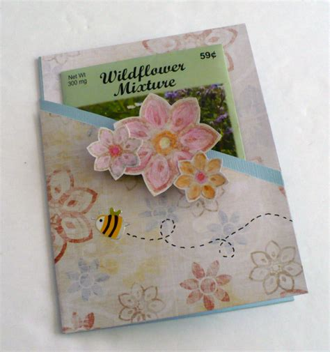 how to make seed cards make a wildflower seed packet card 187 dollar store crafts