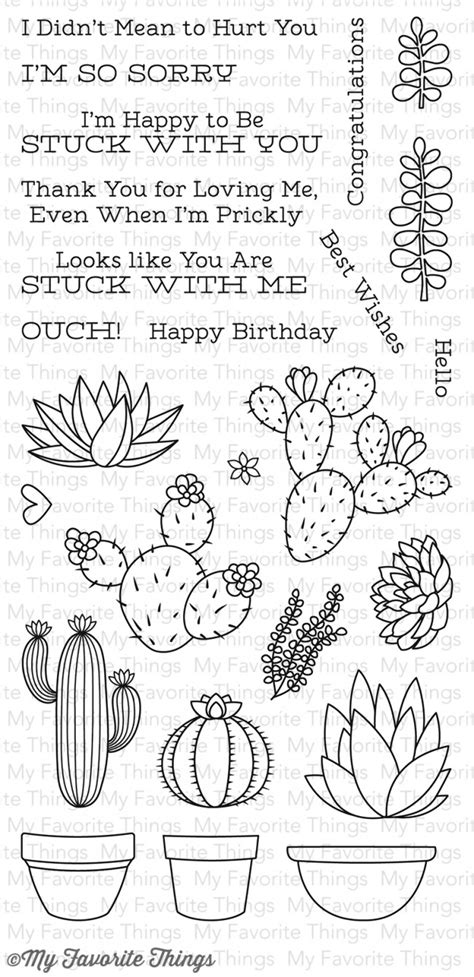 my favorite things rubber sts lld sweet succulents