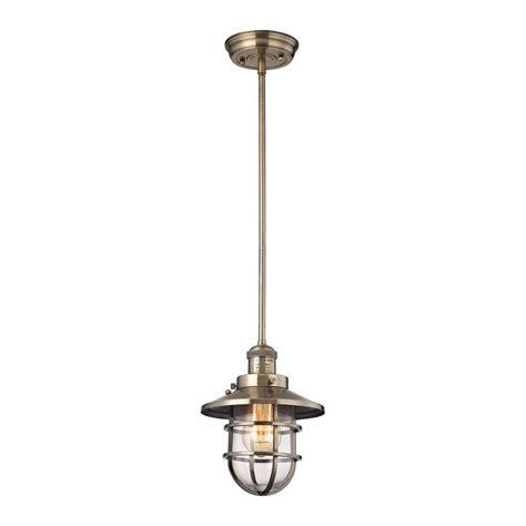 pendant light home depot globe electric exclusive edison 1 light antique brass