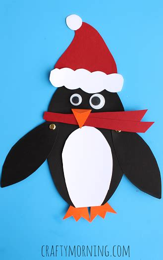 penguin crafts for moveable penguin craft for crafty morning