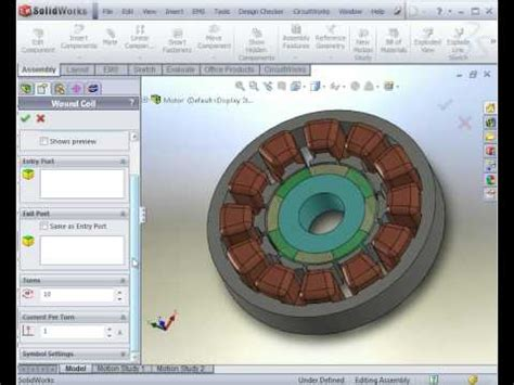 Electric Motor Simulation by Electromagnetic Simulation