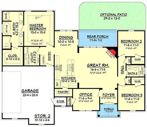 split floor plan split bedroom house plan with open floor plan 11797hz