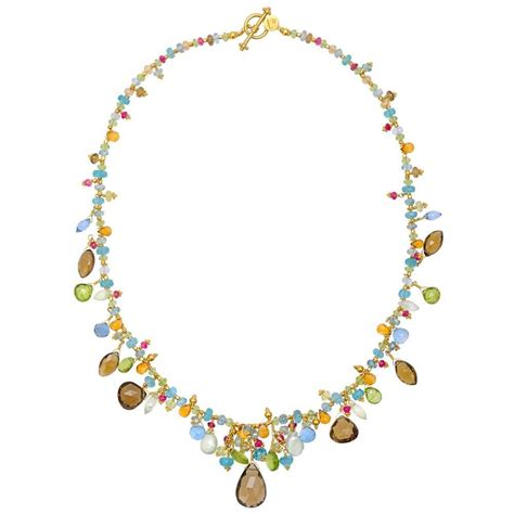 bead necklace gibson multicolored gemstone bead necklace for sale