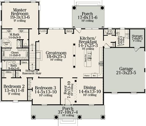 american house plans classic american home plan 62100v 1st floor master