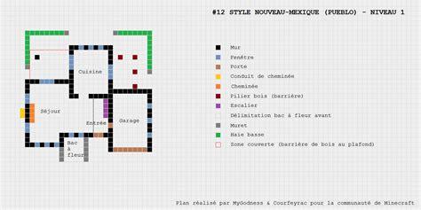plan maison pueblo de style nouveau mexique minecraft constructor