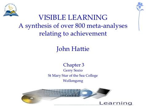 visible learning a synthesis of 800 meta analyses relating to achievement visible learning