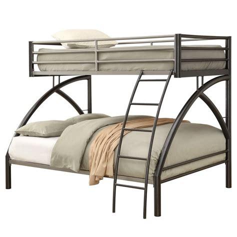 coaster bunk bed coaster bunk bed in gunmetal 460079