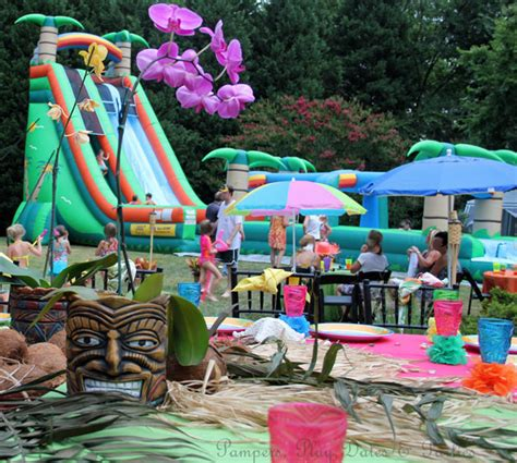 backyard luau ideas pers play dates and real amazing