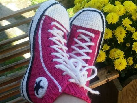 knitted converse slippers pattern best converse slippers ideas on crochet