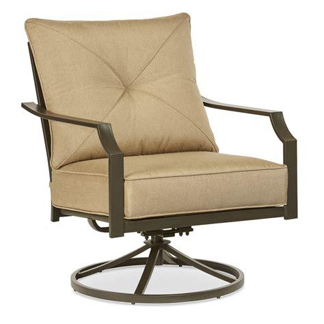 outdoor swivel rocking chairs shop garden treasures vinehaven 2 count brown steel swivel