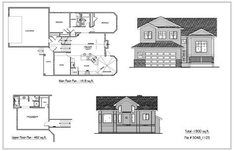 bi level home plans bilevel houses