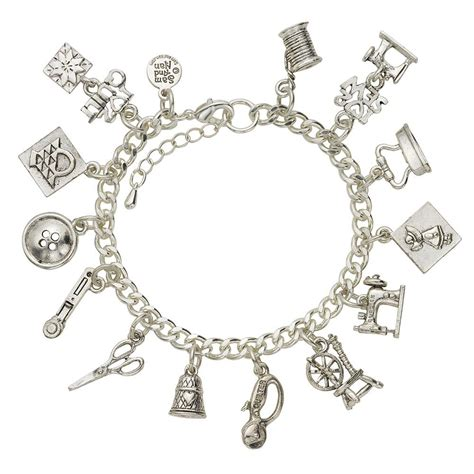 charm for bracelets sewing and quilting charm bracelet samandnan