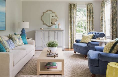 coastal paint colors for living room renovated home with coastal interiors wanted one magazine