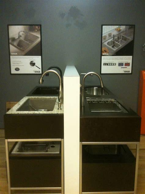 kitchen sink displays kohler kitchen sink displays our denver showroom