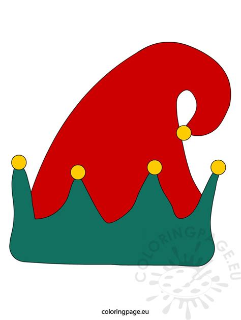 elves hats hat vector coloring page