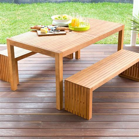 Home Decor Stores Perth 3 piece wooden table and bench set kmart