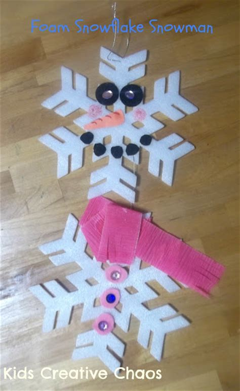 winter crafts for at school make a snowman winter craft preschool activity from