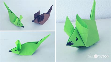 origami fr origami r 233 alisons une souris verte pour mimer la comptine