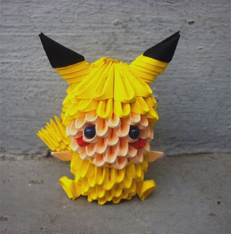 how to make a 3d origami pikachu pikachu child 3d origami by sophieekard on deviantart