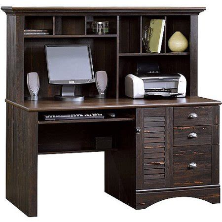 desks with hutch sauder harbor view computer desk with hutch antiqued