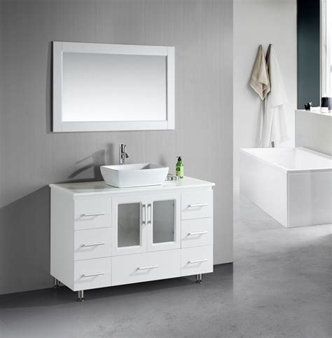 Small White Bathroom Vanities by Small Bathroom Vanities With Vessel Sinks To Create Cool