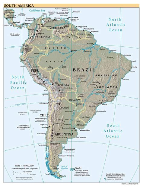 south american maps of south america and south american countries