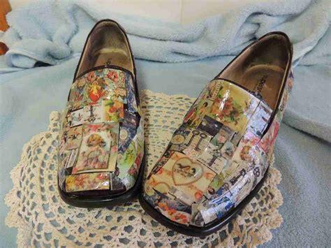 decoupage boots refashion co op pretty decoupage shoes