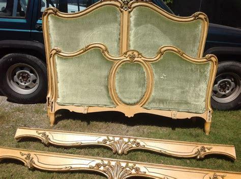 vintage wood bed frame vintage antique louis x1v rococo wood carved