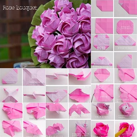 origami paper roses pin origami step by on