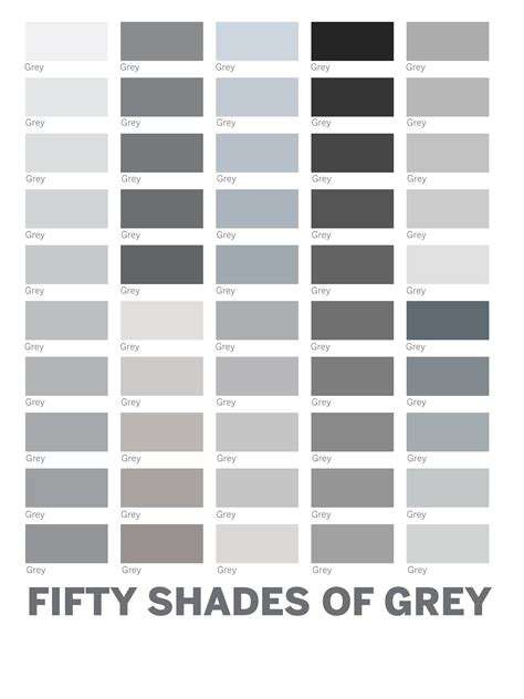 shades of grey colors 9 best images of grey color chart 50 shades of grey