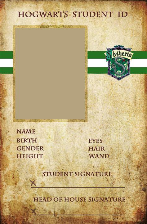 make a student card slytherin id by animejunkie106 on deviantart