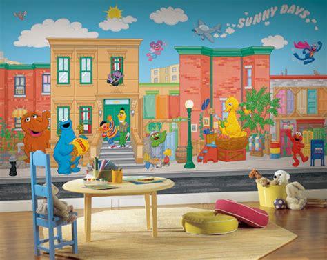 Sesame Street Wall Mural sesame street xl 9 x 15 full wall mural sale