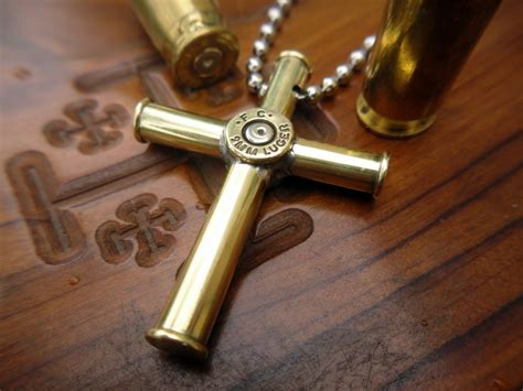 how to make jewelry from bullet casings bullet casing cross pendant necklace medium