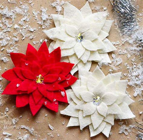 poinsettia craft project pretty poinsettia pin craft