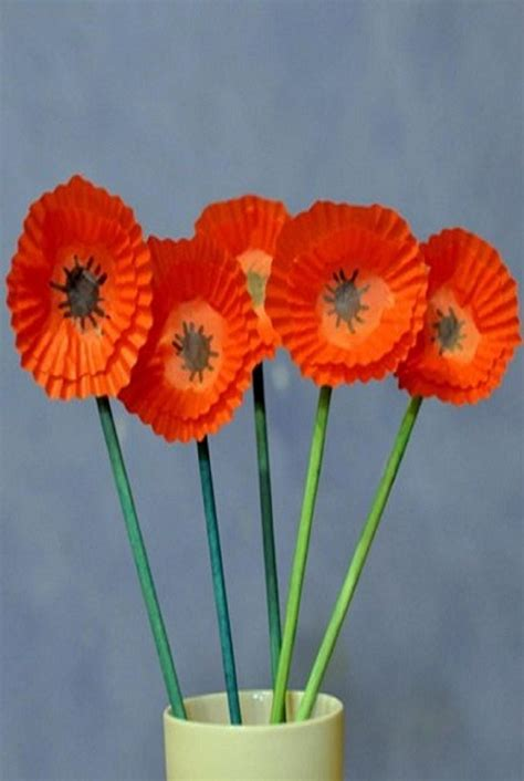 paper crafts for seniors make paper poppies memorial day activity ideas for
