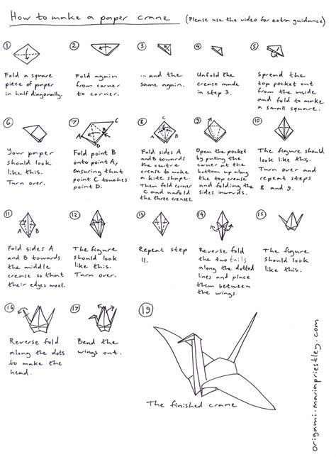 how do you make an origami crane how to make a paper crane