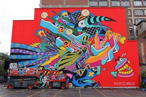 canadian painting festival mural 15 bicicleta sem freio unveils a mural in