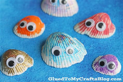 sea shell craft for simple seashell friends kid craft glued to my crafts