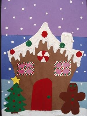 gingerbread house craft for gingerbread house craft winter theme