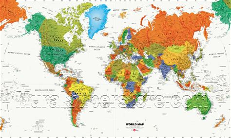 World Wall Map Mural world map wall mural mp4945m