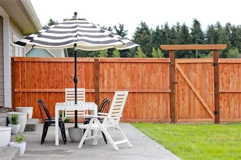 diy patio umbrella stand 17 best ideas about patio umbrella stand on