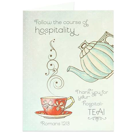 card for your thank you greeting card hospitality thanks