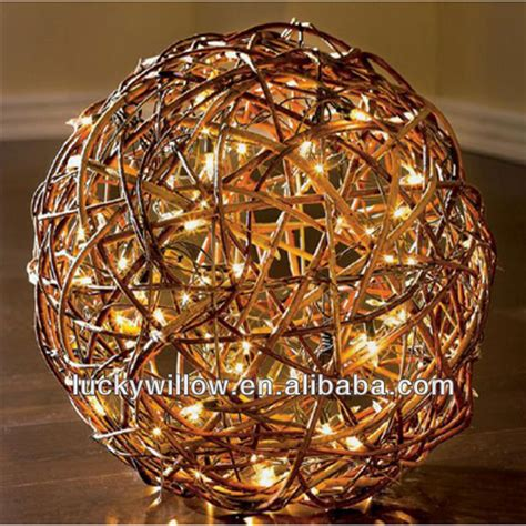 large lighted balls wholesale waterproof large wicker with led light