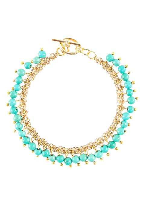turquoise bead bracelet new gold turquoise bead bracelet