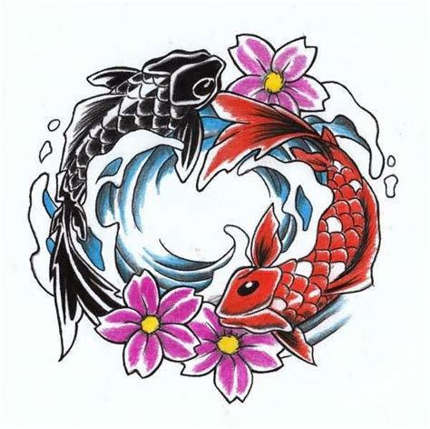koi fish yin yang tattoo design beautiful tattooshunter com