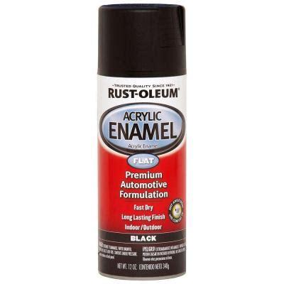 home depot spray paint black rust oleum automotive 12 oz flat black acrylic enamel