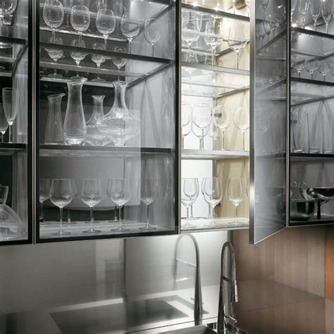 design glass for kitchen cabinets 24 pictures of kitchens with glass cabinets