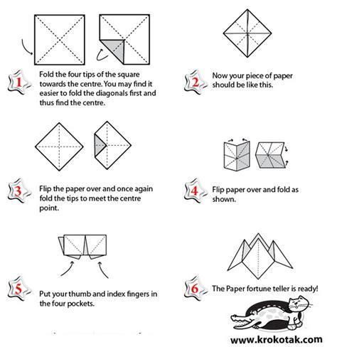 how to make origami fortune teller krokotak paper fortune teller origami