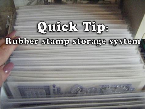 rubber st storage ideas how to make easy cheap crafting rubber st storage