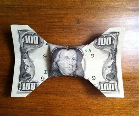 dollar bill origami bow tie beautiful money origami pieces many designs made of